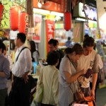 A couple go shopping for dinner in Ameyoko, Tokyo
