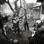 The BGs (Blind Grandpas) and friends play a gig in the back garden, Miyazu, Kyoto