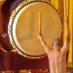 Taiko drumming performance